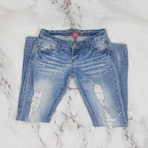 Wet Seal Distressed Jeans